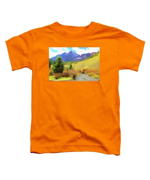 Impression, Maroon Bells Toddler T-Shirt