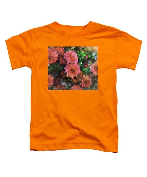 Bronze And Pink Mums Toddler T-Shirt