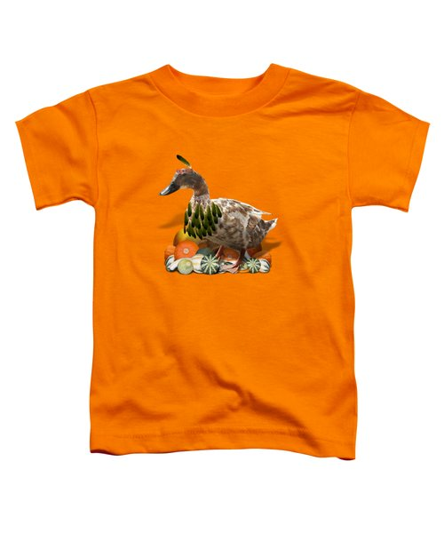 Indian Duck Toddler T-Shirt by Gravityx9 Designs