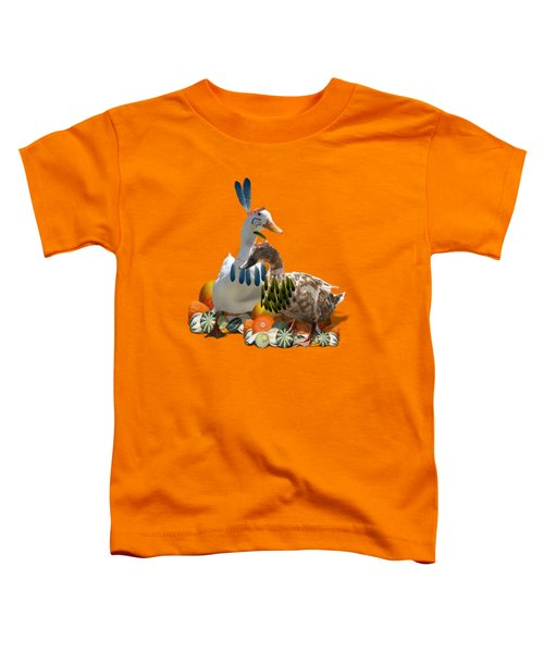 Indian Ducks Toddler T-Shirt by Gravityx9 Designs
