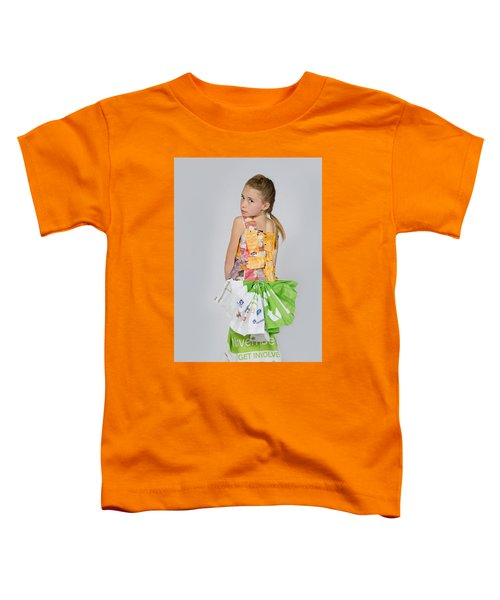 Irene In Tea Bags Shirt And Banners Skirt Toddler T-Shirt