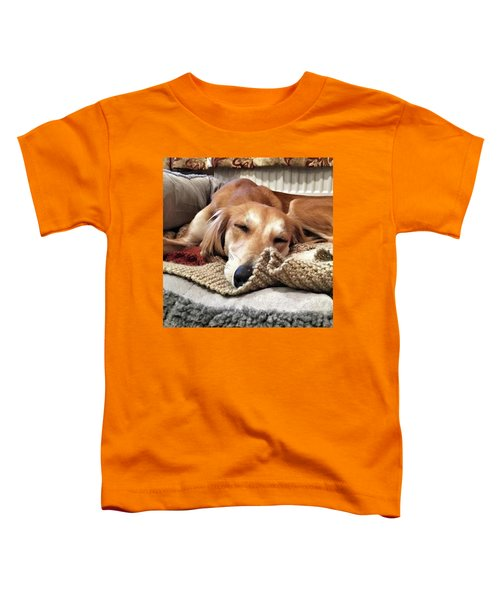 It's Been A Hard Day...  #saluki Toddler T-Shirt