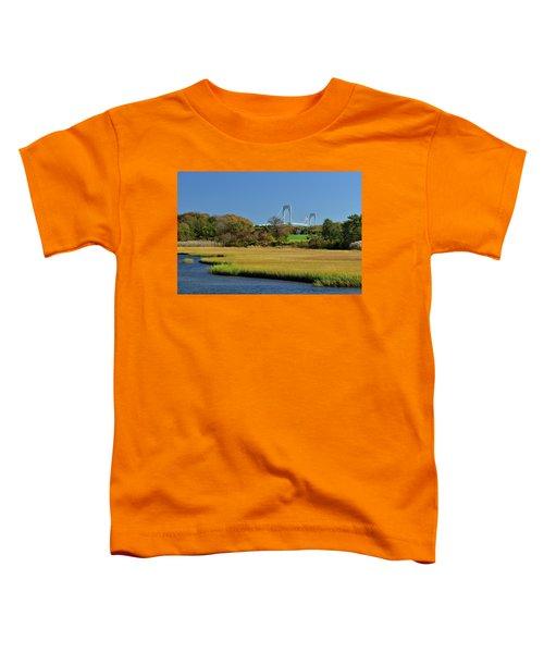 Jamestown Marsh With Pell Bridge Toddler T-Shirt