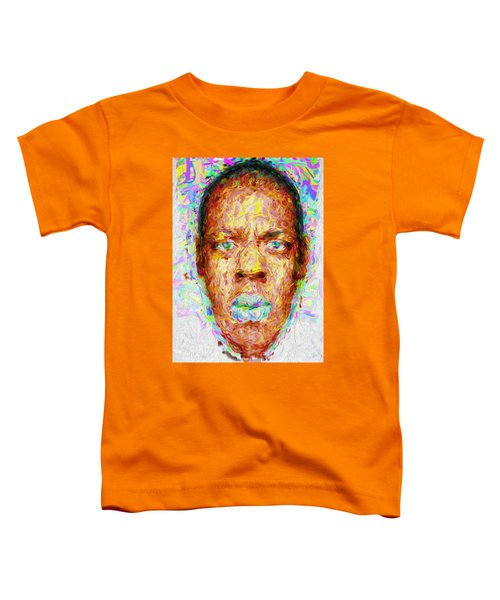 Jay Z Painted Digitally 2 Toddler T-Shirt by David Haskett