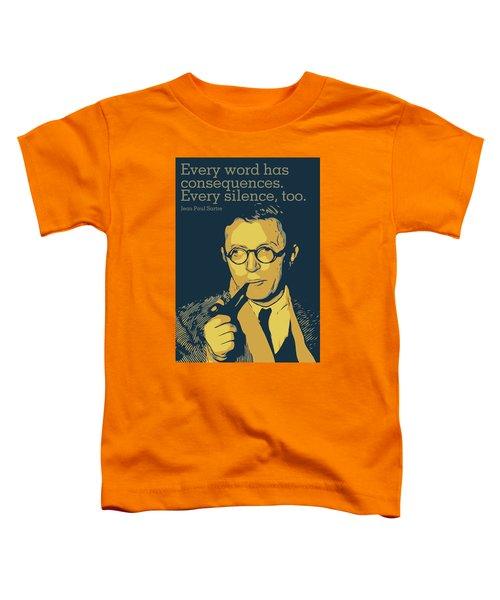 Jean Paul Sartre Toddler T-Shirt