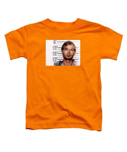 Jeffrey Dahmer Mug Shot 1991 Horizontal  Toddler T-Shirt