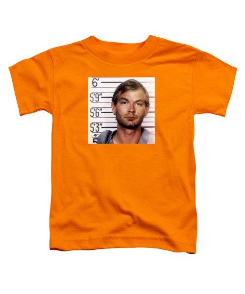 Jeffrey Dahmer Mug Shot 1991 Square  Toddler T-Shirt
