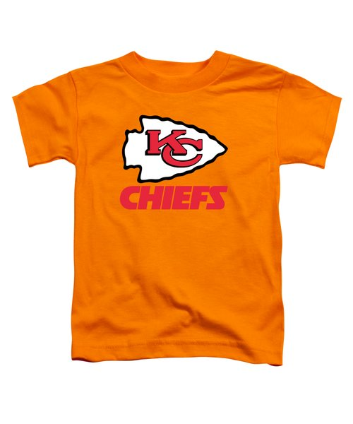 Kansas City Chiefs On An Abraded Steel Texture Toddler T-Shirt
