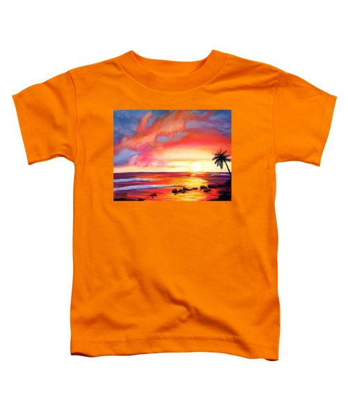 Kauai West Side Sunset Toddler T-Shirt