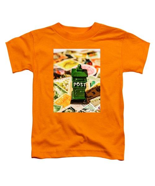 Kiwi Postage Scene Toddler T-Shirt