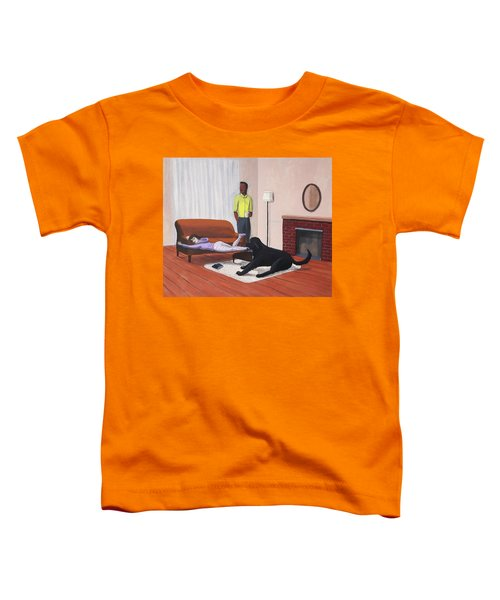 Lady Pulling Mommy Off The Couch Toddler T-Shirt