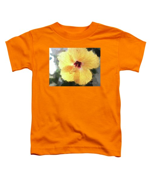 Lady Yellow Toddler T-Shirt