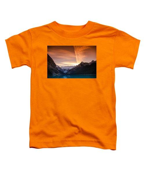 Lake Louise Sunset Toddler T-Shirt