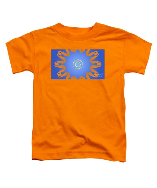 Landscape Abstract Blue, Orange And Yellow Star Toddler T-Shirt