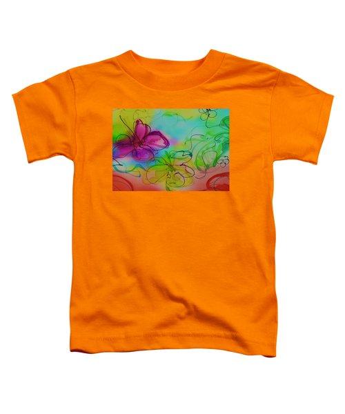Large Flower 2 Toddler T-Shirt