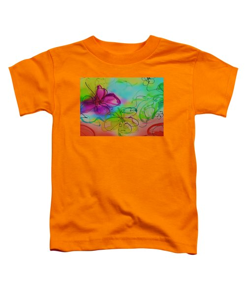 Large Flower 2 Toddler T-Shirt