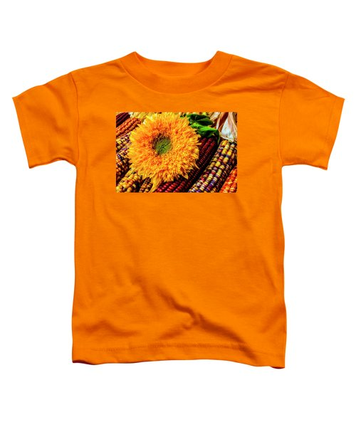 Large Sunflower On Indian Corn Toddler T-Shirt