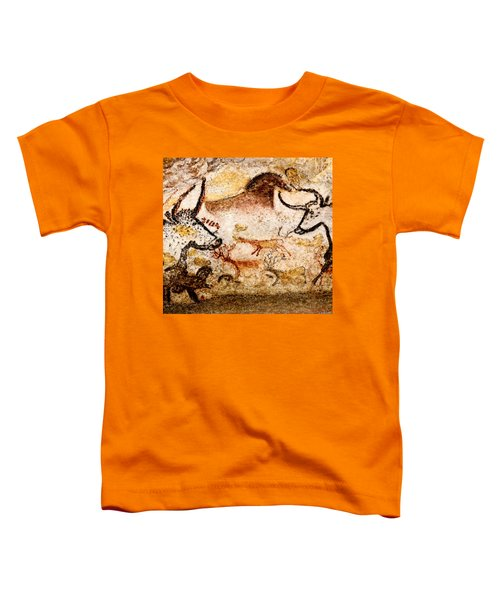 Lascaux Hall Of The Bulls - Deer Between Aurochs Toddler T-Shirt