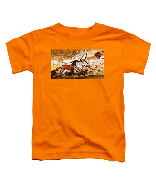 Lascaux Hall Of The Bulls - Horses And Aurochs Toddler T-Shirt