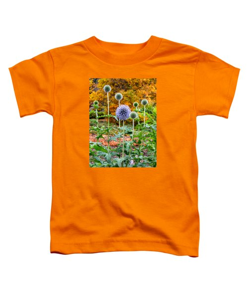 Late Bloom Among Fall Colors Toddler T-Shirt