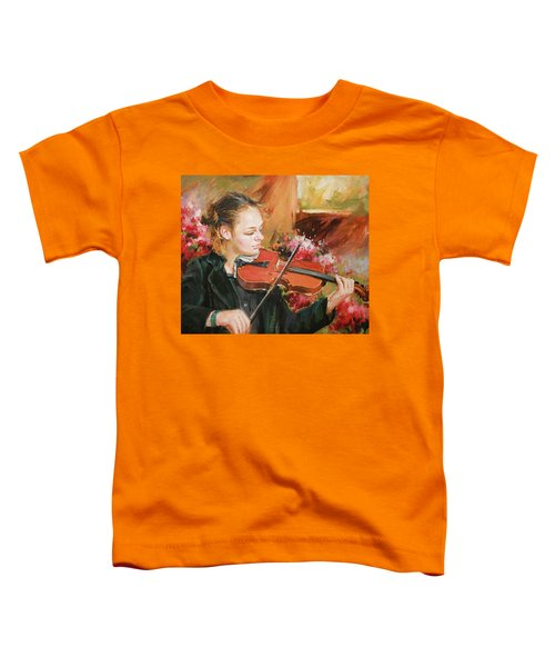 Learning The Violin Toddler T-Shirt