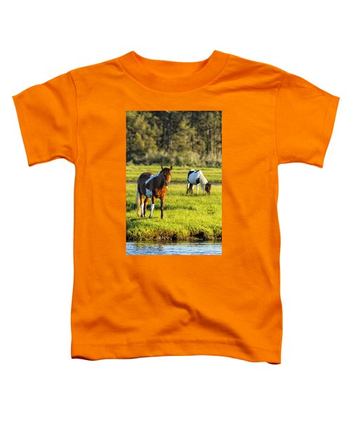 Leaving The Chincoteague Ponies Toddler T-Shirt