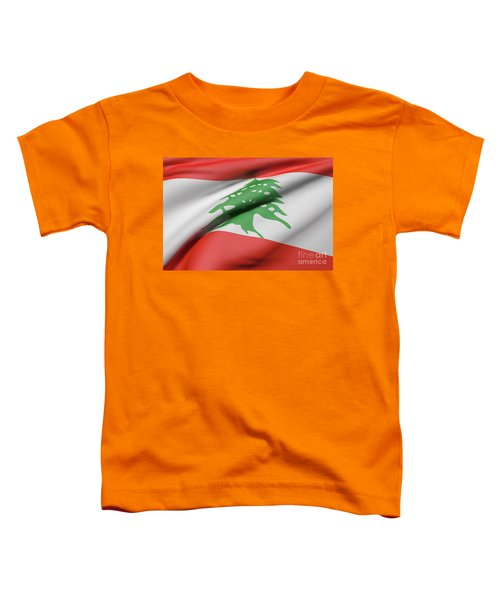 Lebanon Flag Waving Toddler T-Shirt