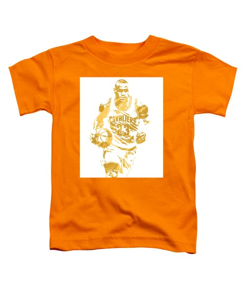 Lebron James Cleveland Cavaliers Pixel Art 7 Toddler T-Shirt by Joe Hamilton