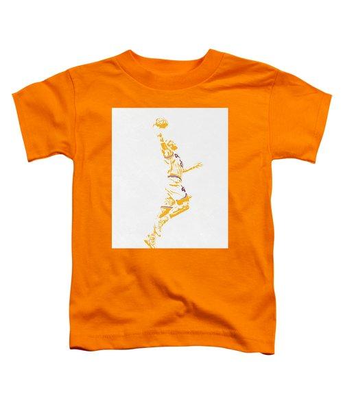 Lebron James Cleveland Cavaliers Pixel Art Toddler T-Shirt by Joe Hamilton