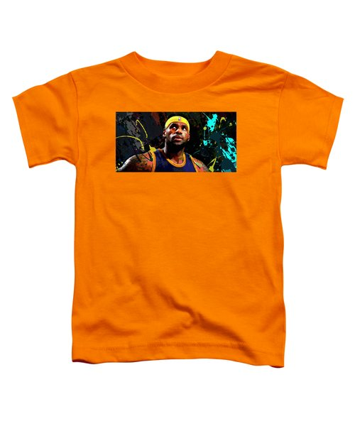 Lebron Toddler T-Shirt by Richard Day
