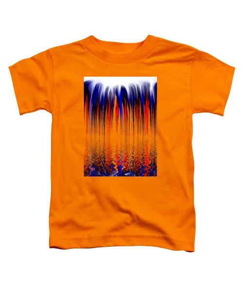 Liquid Overflow By Kaye Menner Toddler T-Shirt by Kaye Menner