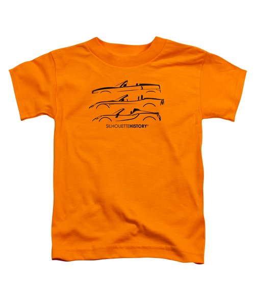 Lombard Roadster Silhouettehistory Toddler T-Shirt by Gabor Vida