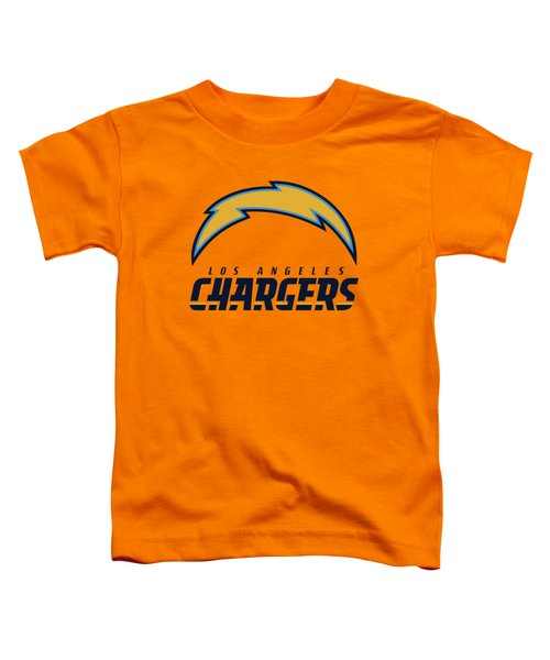 Los Angeles Chargers On An Abraded Steel Texture Toddler T-Shirt