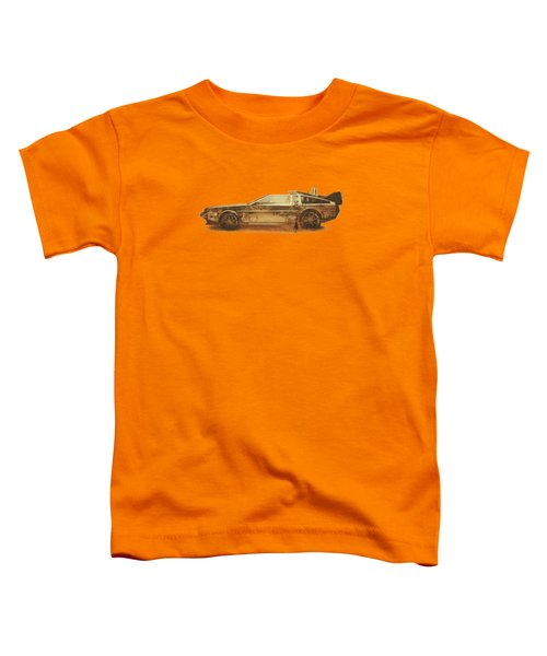 Lost In The Wild Wild West Golden Delorean Doubleexposure Art Toddler T-Shirt