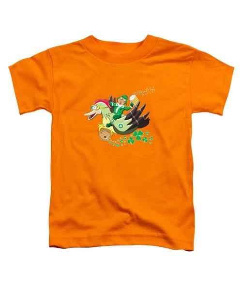 Lucky Leprechaun Toddler T-Shirt by David Brodie
