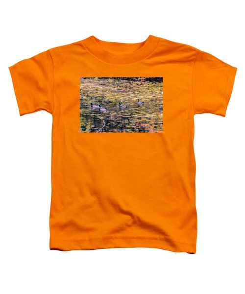 Mallards On Autumn Pond Toddler T-Shirt