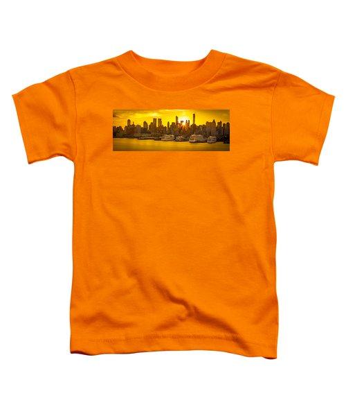 Manhattan's Ports At Sunrise Toddler T-Shirt