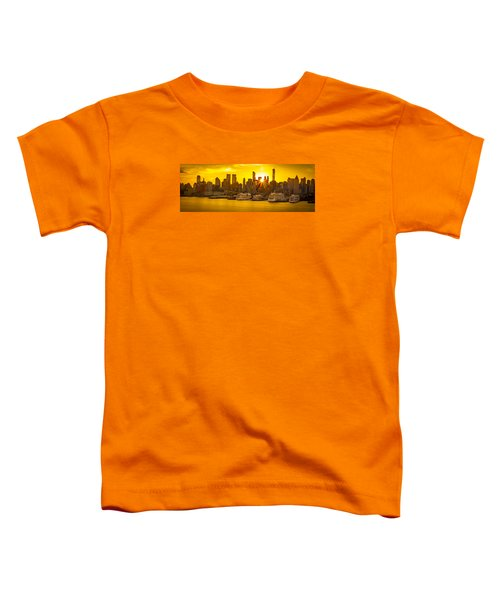 Manhattan's Ports At Sunrise Toddler T-Shirt
