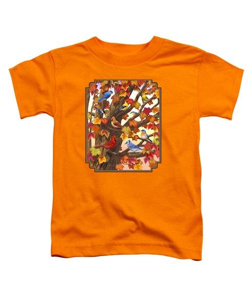 Maple Tree Marvel - Bird Painting Toddler T-Shirt
