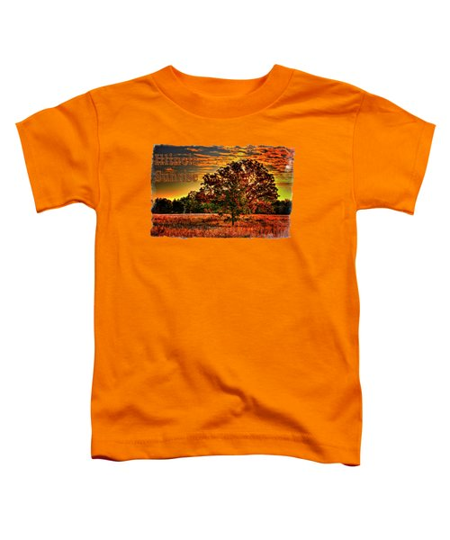 Maple Tree On An Illinois Priaire Early Autumn Toddler T-Shirt
