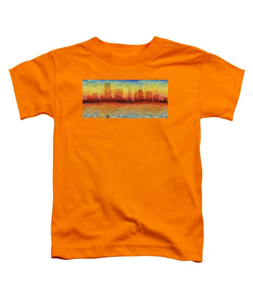 Miami Skyline 5 Toddler T-Shirt by Andrew Fare