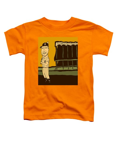Mickey Mantle Yankee Stadium Toddler T-Shirt