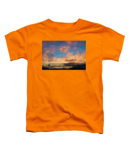 Moab Sunrise Abstract Painterly Toddler T-Shirt
