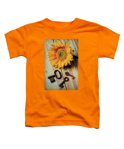 Moody Sunflower With Keys Toddler T-Shirt