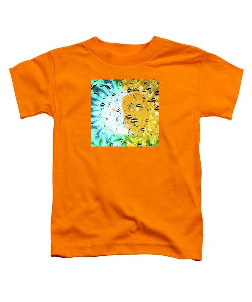 Moon And Sun Rainy Day Windowpane Toddler T-Shirt