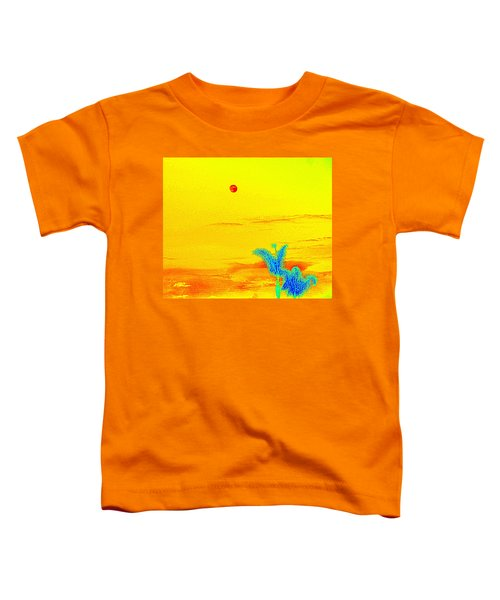 Moon And Two Palms Toddler T-Shirt