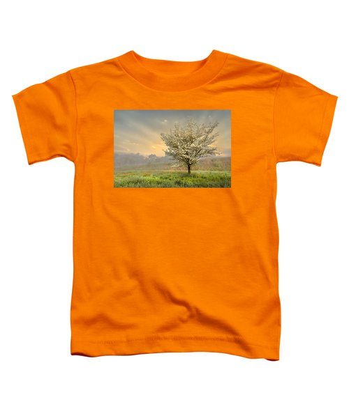 Toddler T-Shirt featuring the photograph Morning Celebration by Debra and Dave Vanderlaan