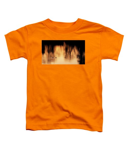 Toddler T-Shirt featuring the photograph Morning Ducks 2017 by Bill Wakeley