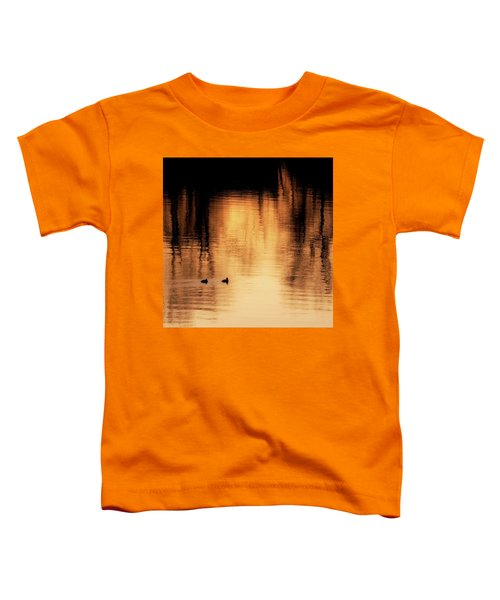 Toddler T-Shirt featuring the photograph Morning Ducks 2017 Square by Bill Wakeley