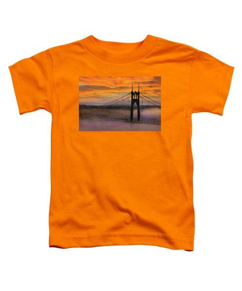 Mount Hood By St Johns Bridge During Sunrise Toddler T-Shirt